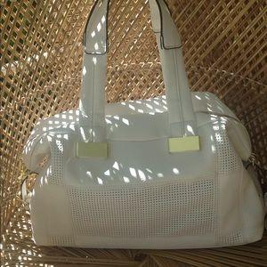 Steve Madden white leather bag